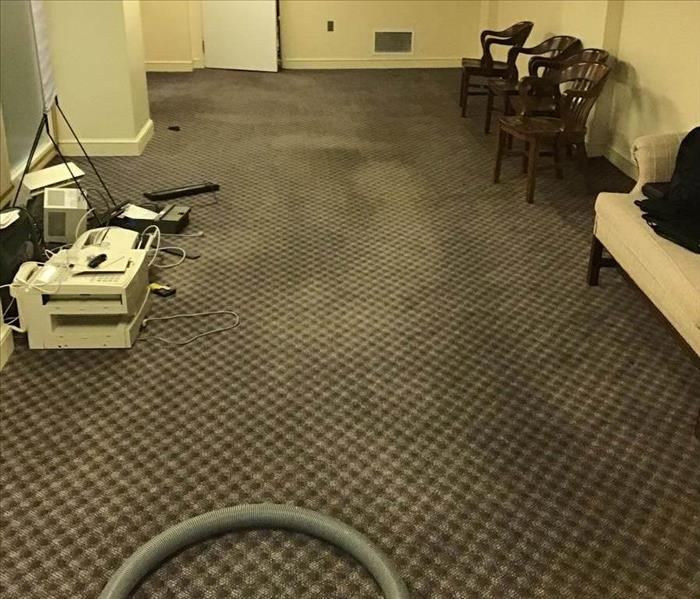 water damage in commercial work space