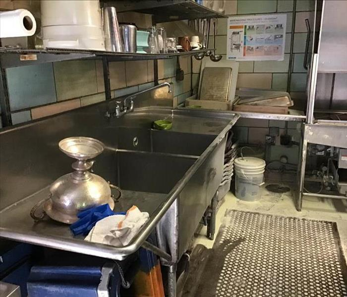 dirty commercial kitchen